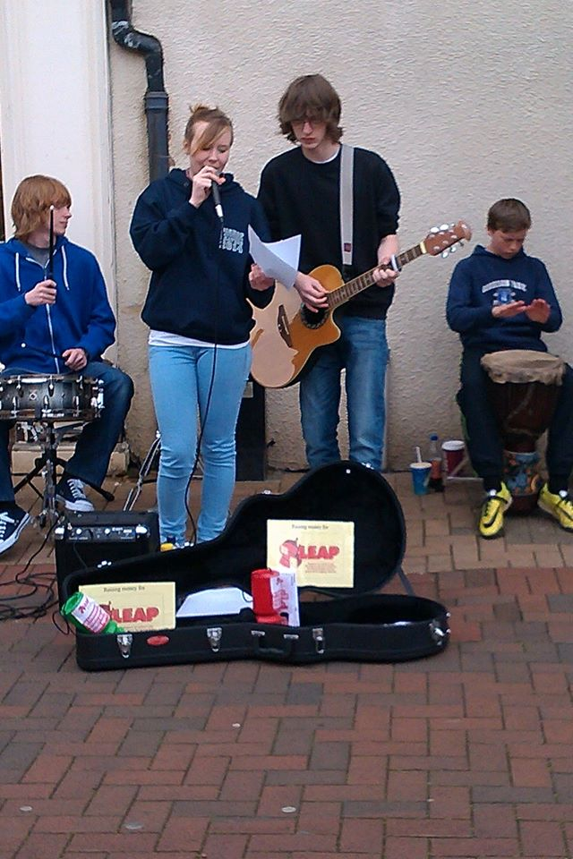 Busking for SLEAP 1 May 2014
