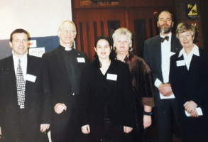 Staff and trustees in 1999.